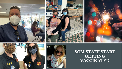 SOM Staff getting vaccinated